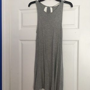 Comfy Gray Backless Dress